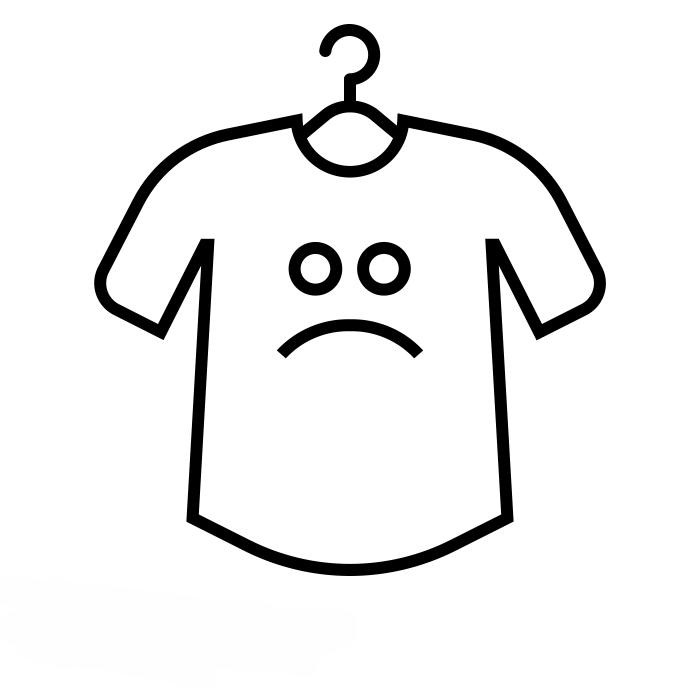 Icone de camiseta triste